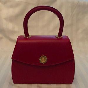 "ESCADA ""Lady in Red"" signature leather handbag."